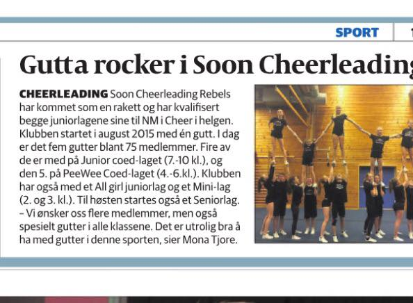Gutta ROCKER i Soon Cheerleading REBELS